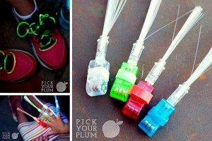 glow in the dark shoelaces and finger lights