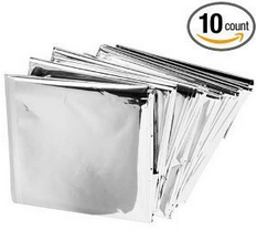 mylar thermal blankets Emergency Mylar Thermal Blankets (Pack of 10) $6.55