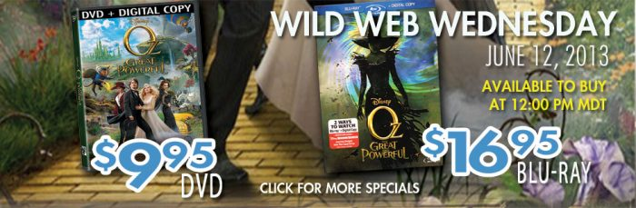 oz the great and powerful rc willey wild wednesday deal
