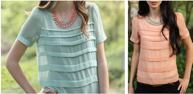 pleated tops