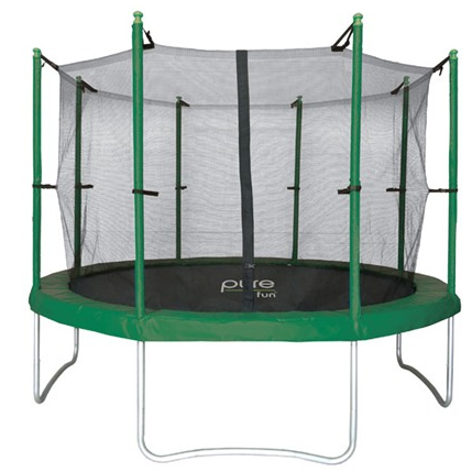 pure fun 15 foot trampoline with enclosure deal sale 15 ft Pure Fun trampoline w/ enclosure $255 shipped! (reg $500 at Walmart!)