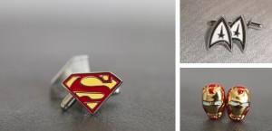 super hero cufflinks