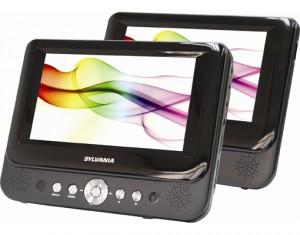 sylvania dual screen dvd player