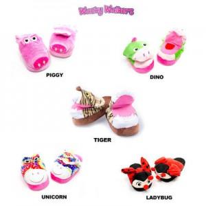 wacky walkers kids animal slippers