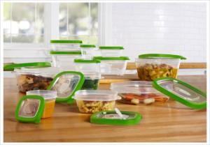 24 piece bpa free plastic storage container set 1saleaday deal