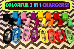 3 in 1 iphone 5 chargers
