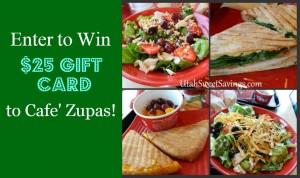 Cafe Zupas Giveaway
