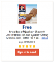 Free Box of Quaker Chewy Granola Bars