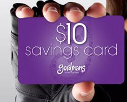 Gordmans $10 Savings Card