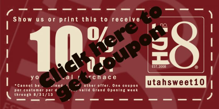 Hut no 8 store coupon