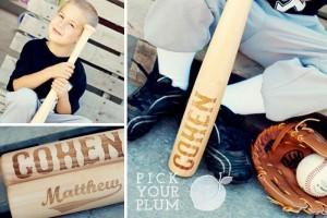 Personalized wooden baseball bats