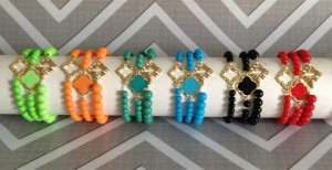 Set of 3 clover bracelets