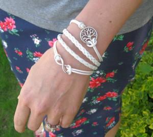 andRuby Infinity Silver Wishing Tree Bracelet