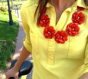 andRuby Necklace Red Flowers
