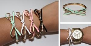 bow bangle bracelet