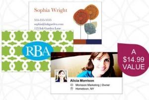 business cards ink garden deal