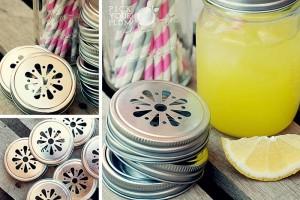 daisy cut mason jar lids
