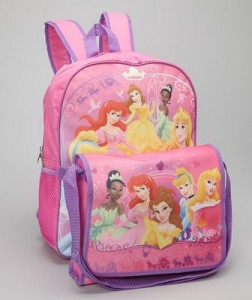 disney princess backpack and lunch tote