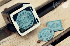 diy monogram stamp kit