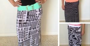 hollywood print skirts