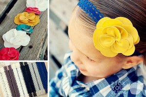 lace headbands and leather flowers