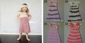 lace ruffle girls dresses