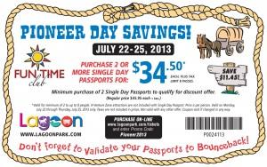 lagoon pioneer day savings