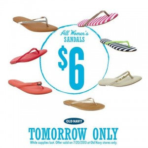 old navy $6 sandal sale