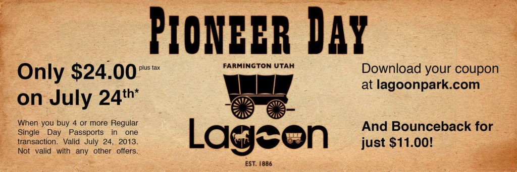 pioneer day at lagoon