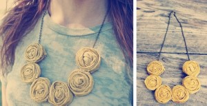rosette statement necklace