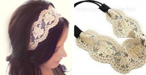 vintage inspired lace headband