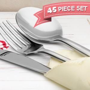 45 piece flatware set 1saleaday deal