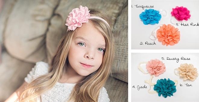 Eyelet Flower Headband or Clip