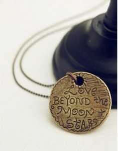 "Love Beyond the Moon Stars Pendant Necklace 235x300 ""Love Beyond the Moon & Stars"" Pendant Necklace for $3.24 Shipped!"