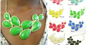 big petal necklace