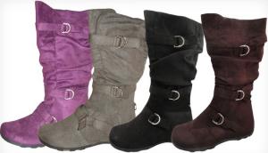 carrini womens three buckle boots