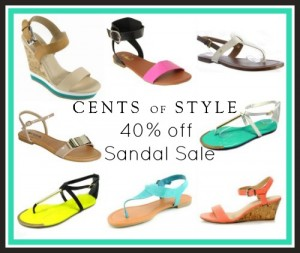cents of style fashion friday sandal sale