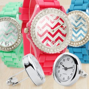chevron silicone watches