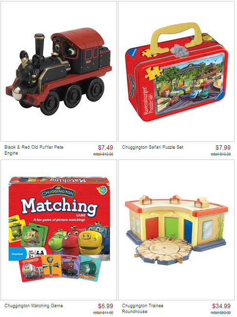 chuggington zulily sale