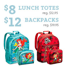 disney backpacks and lunch totes