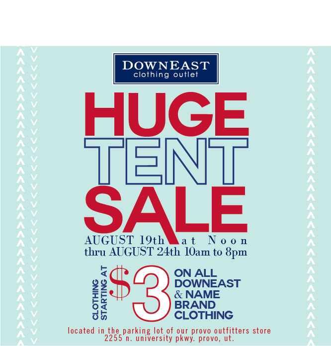 downeast tent sale in provo
