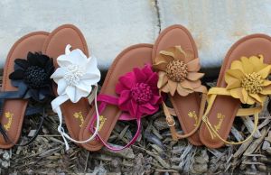 flower sandal blow out sale