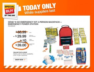 grab n go emergency kit 2 person backpack