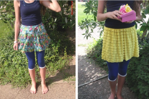 lace trimmed leggings