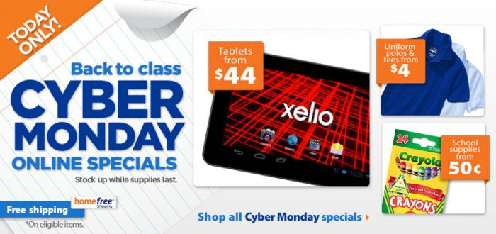 walmart cyber monday back to school sale