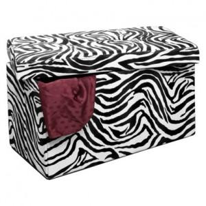 zebra print storage 300x300 30 Collapsible Storage Bench, Zebra Print for $59 Shipped (Regularly $99.99)!