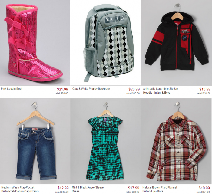 zulily back to school sale
