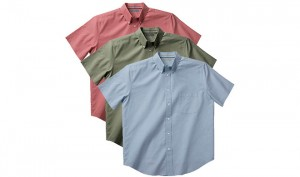 3-Pack Zorrel Men's 100 Cotton Short Sleeve Chambray Shirts