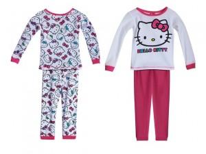 toddler 4 piece pajamas hello kitty