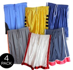 4 pack mens basketball shorts